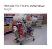 Moms At The Grocery Store