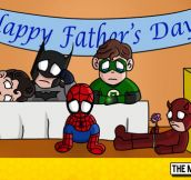 Super Heroes On Father's Day