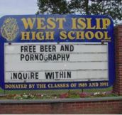 Funny School Signs… (22 Pics)