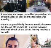 Romanian City Gives Free Bus Rides To Passengers Who Read Books Inside