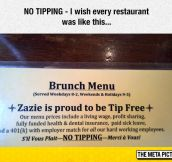 No Tipping