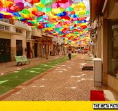 Umbrella Decorated Street