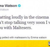Emma Watson On Annoying People At The Cinema