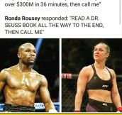 Ronda Is Better At Punching Women, Sorry Floyd