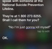 Well, Thanks Siri