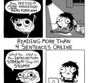 Reading A Novel Vs. Reading Online