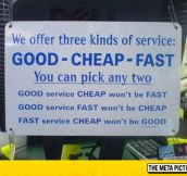 We Offer Three Kinds Of Service