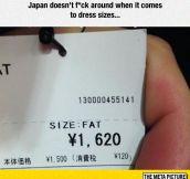 Dress Sizes In Japan