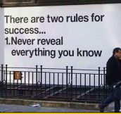 There Are Two Rules