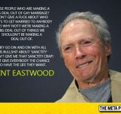Mr. Eastwood Tells It Like It Is