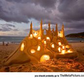 Fairy Tale Lighted Sandcastle