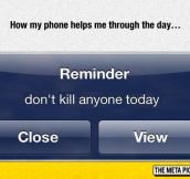 Daily Phone Reminder