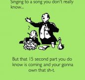 Trying To Sing A Song You Don't Really Know