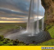 The Seljalandsfoss Waterfall In Iceland