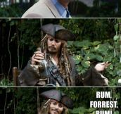 Forrest Gump Meets Captain Jack Sparrow