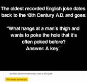 Oldest Recorded English Joke