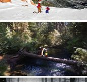 Calvin And Hobbes Combined With Real Locations