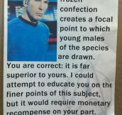 Spock's Milkshake Brings All The Boys To The Yard