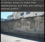 Clever Reverse Graffiti