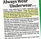 Why You Should Always Wear Underwear In Public