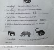 Science Test From A Child, That Grade Though