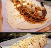 For Those Who Are Too Lazy To Dip Bread In Spaghetti