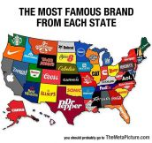 Most Famous Brand Each State Has Created
