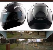 Helmet With A Rear View Mirror