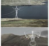 Electric Poles In Iceland