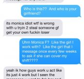 Jealous Boyfriend Texts Girlfriend's Coworker And Instantly Regrets It