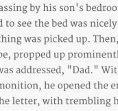 Father Finds Horrifying Letter From His Son. This Is Gold