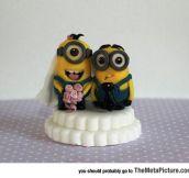 Minion Wedding Cake Topper
