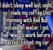 Preparing Coffee With Red Bull