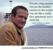 Robin Williams's Take On Canada