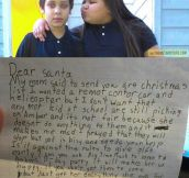 Little Boy Asks Santa To Help His Bullied Sister
