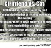 Girlfriend Vs. The Cat