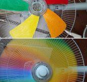 Fan Creating Some Rainbow Awesomeness