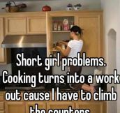 Short Girl Tries To Cook