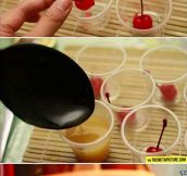 Upside-Down Pineapple Jello Shots