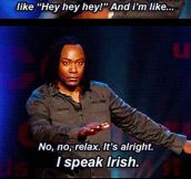 Oh It's OK, I Speak Irish