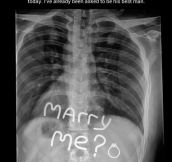 So This Is How You Propose To An X-Ray Tech