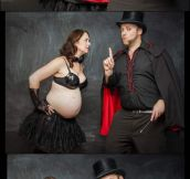 Magician Dad Baby Announcement
