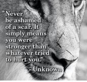 Ashamed Of A Scar