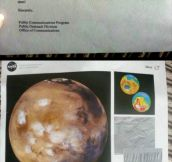 Little Boy Writes To NASA