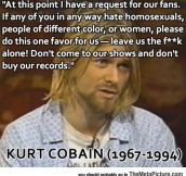 Cobain's Request For His Fans