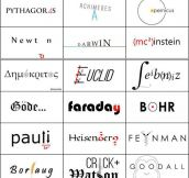 If Famous Scientists Had Logos