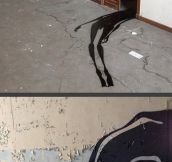 Shadows Painted In Abandoned Psychiatric Hospitals