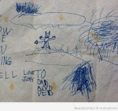 20 Disturbing Pictures Drawn By Kids