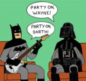 When Batman And Darth Vader Hang Out