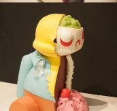 Ralph Wiggum Cut-Out Cake